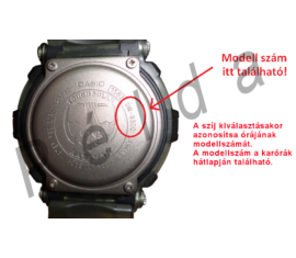 G-1000H G-1010 G-1100 G-1200B G-1250B G-1500 Casio fekete műanyag szíj