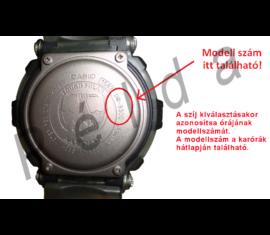 AQF-100 Casio fekete műanyag óraszíj