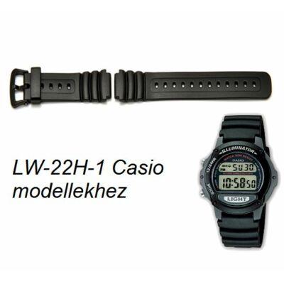 LW-22H-1 Casio fekete műanyag szíj