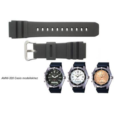 AMW-320 Casio fekete műanyag szíj