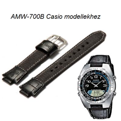 AMW-700B Casio fekete szövet szíj