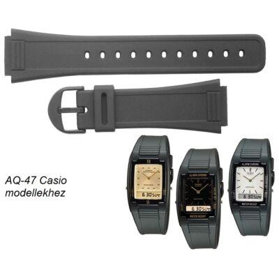 AQ-47 Casio fekete műanyag szíj