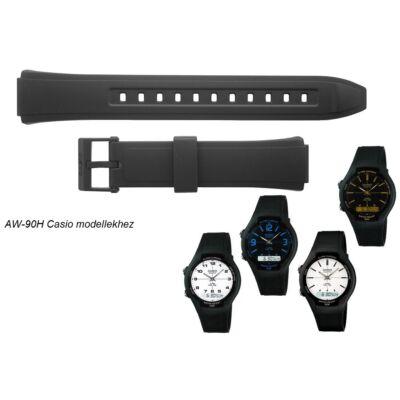 AW-90 Casio fekete műanyag szíj