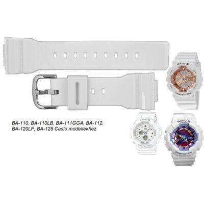 BA-110 BA-110LB BA-111GGA BA-112 BA-120LP BA-125 Casio fehér műanyag szíj