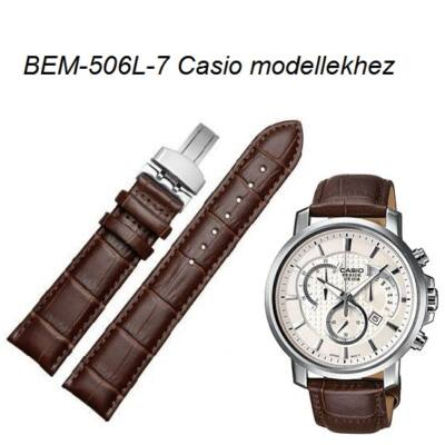 BEM-506L-7 Casio barna bőrszíj