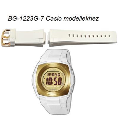 BG-1223G Casio fehér műanyag szíj