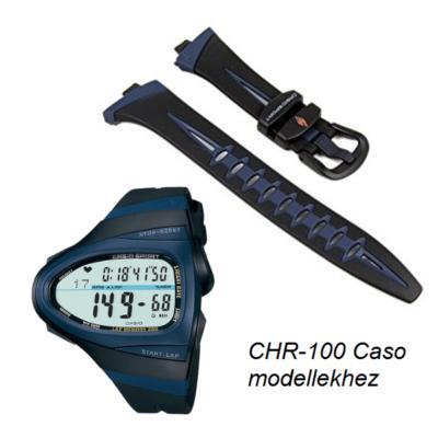 CHR-100-1 Casio fekete műanyag szíj