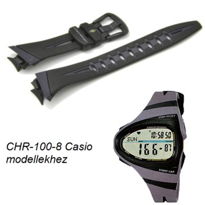 CHR-100-8 Casio fekete műanyag szíj