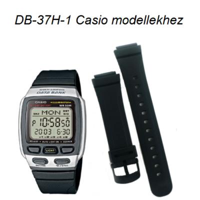 DB-37H-1 Casio fekete műanyag szíj