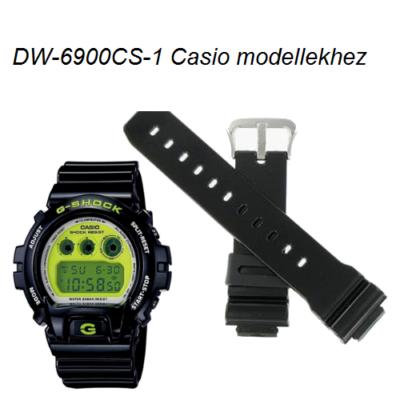 DW-6900CS-1 Casio fekete műanyag szíj