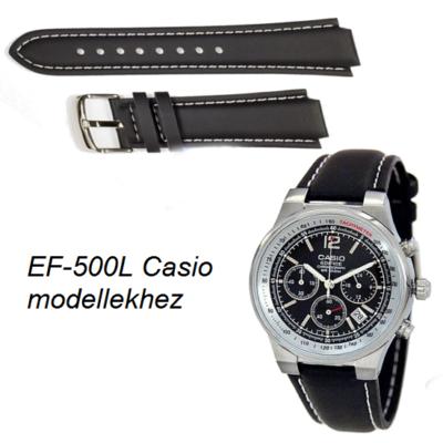 EF-500L Casio fekete bőrszíj