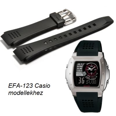 EFA-123 Casio fekete műanyag szíj