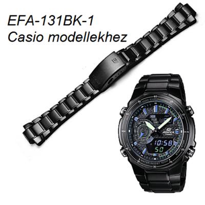 EFA-131BK-1 Casio fekete fémszíj