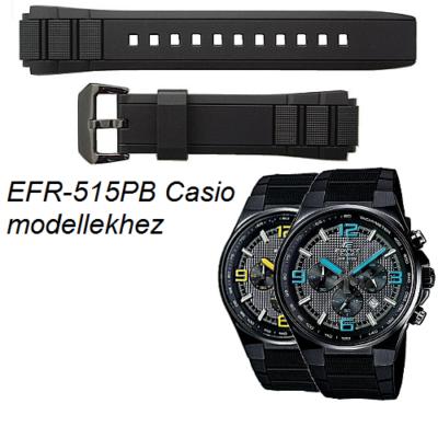 EFR-515PB Casio fekete műanyag szíj