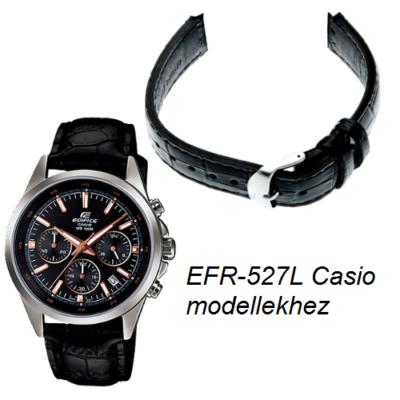 EFR-527L Casio fekete bőr óraszíj
