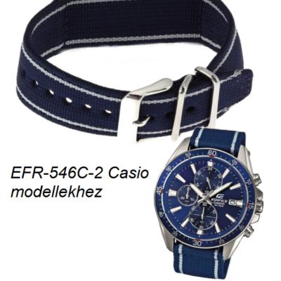 EFR-546C-2A Casio kék szövet szíj