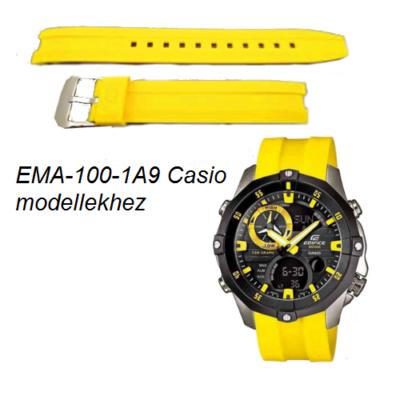 EMA-100-1A9 Casio sárga műanyag szíj
