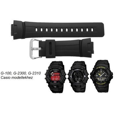 G-100 G-2300 G-2310 Casio fekete műanyag szíj