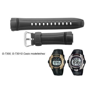 G-7300 G-7301G Casio fekete műanyag szíj