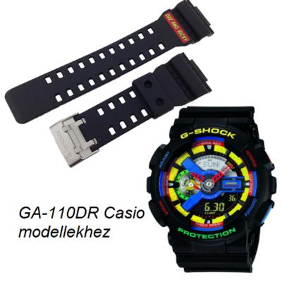 GA-110DR Casio fekete műanyag szíj