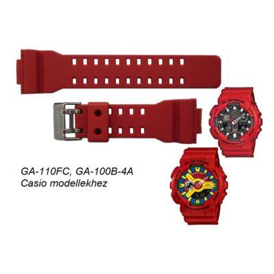GA-110FC-1, GA-100B-4 Casio piros műanyag szíj