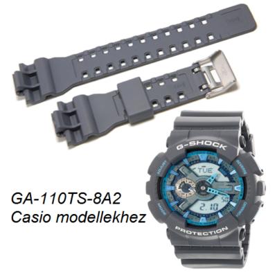 GA-110TS-8A2 Casio szürke műanyag szíj