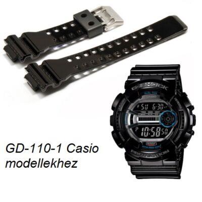 GD-110-1 GA-120B Casio fekete műanyag szíj
