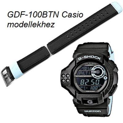 GDF-100BTN Casio fekete szövet szíj