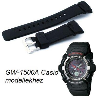 GW-1500A Casio fekete műanyag szíj