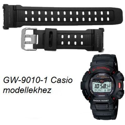 GW-9010-1 Casio fekete műanyag szíj