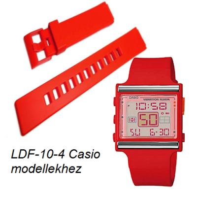 LDF-10-4 Casio piros műanyag szíj