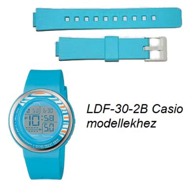 LDF-30-2B Casio kék műanyag szíj