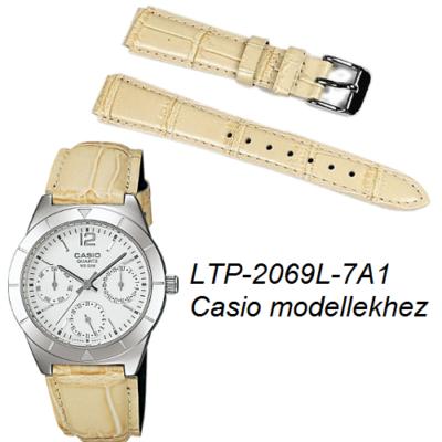LTP-2069L-7A1 Casio bézs bőrszíj