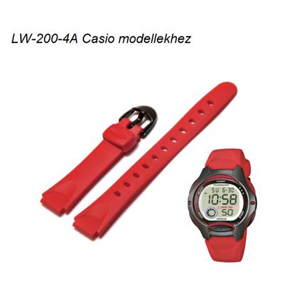LW-200-4A Casio piros műanyag szíj