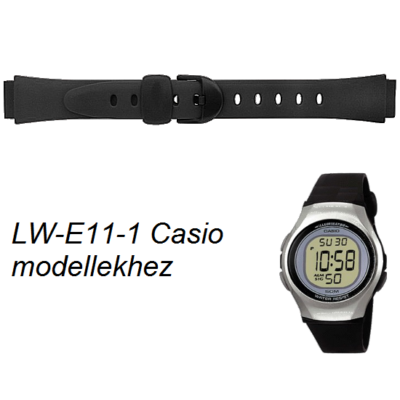 LW-E11-1 Casio fekete műanyag szíj