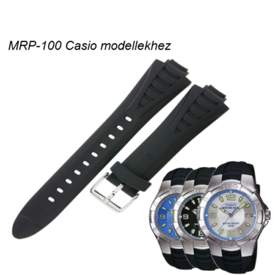 MRP-100 Casio fekete műanyag szíj