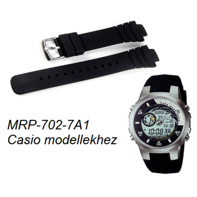 MRP-702-7A1 Casio fekete műanyag szíj
