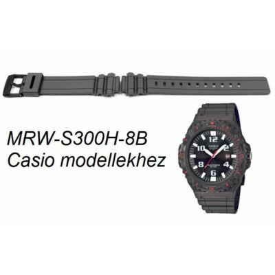 MRW-S300H-8B Casio szürke műanyag szíj
