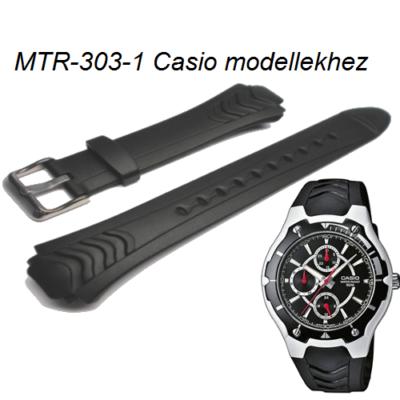 MTR-303-1 Casio fekete műanyag szíj