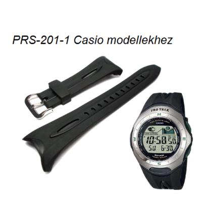 PRS-201-1 Casio fekete műanyag szíj