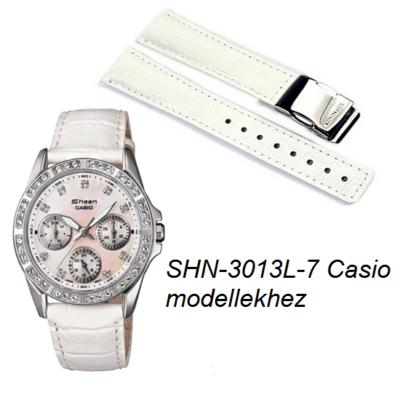 SHN-3013L-7  Casio fehér bőrszíj