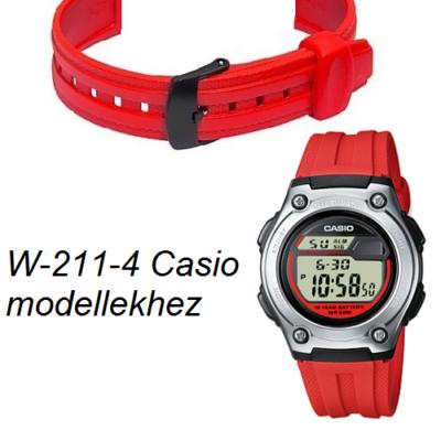 W-211-4 Casio piros műanyag szíj