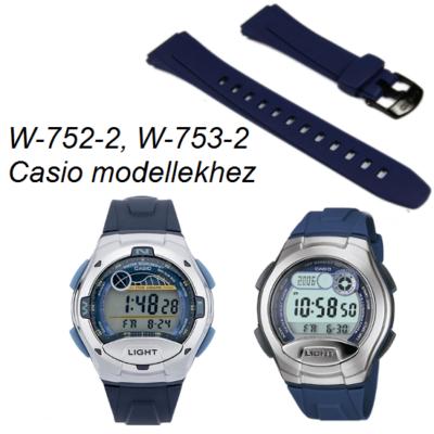 W-752-2, W-753-2  Casio kék műanyag szíj