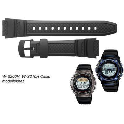 W-S200H W-S210H Casio fekete műanyag szíj