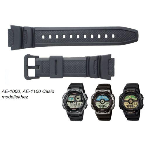 AE-1000 AE-1100 Casio fekete műanyag szíj