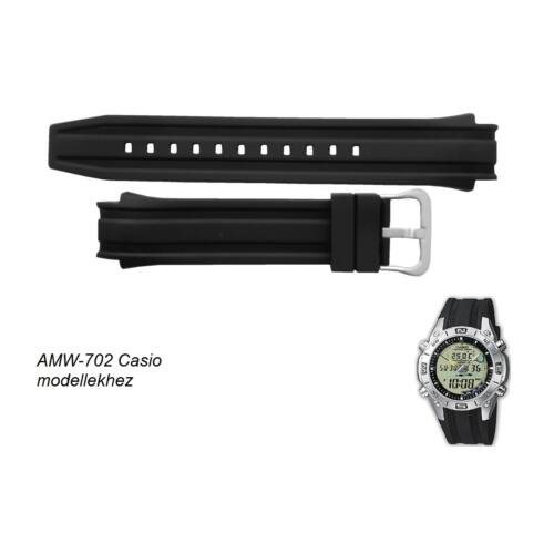 AMW-702-7A Casio fekete műanyag szíj