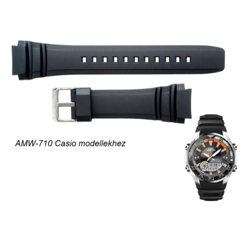 AMW-710 Casio fekete műanyag szíj