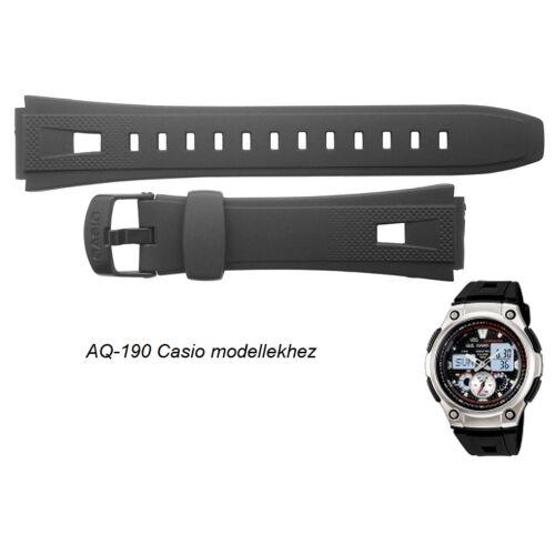 AQ-190 Casio fekete műanyag szíj