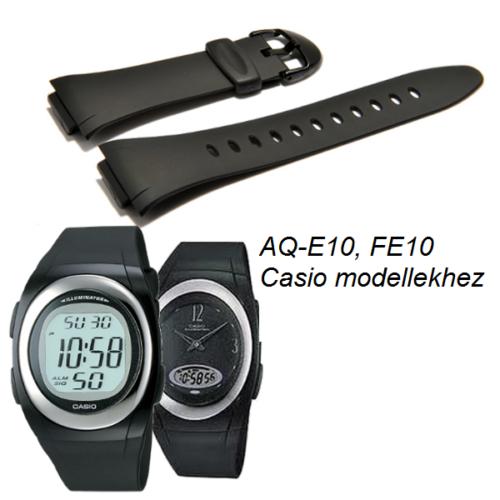 AQ-E10 FE10 Casio fekete műanyag szíj