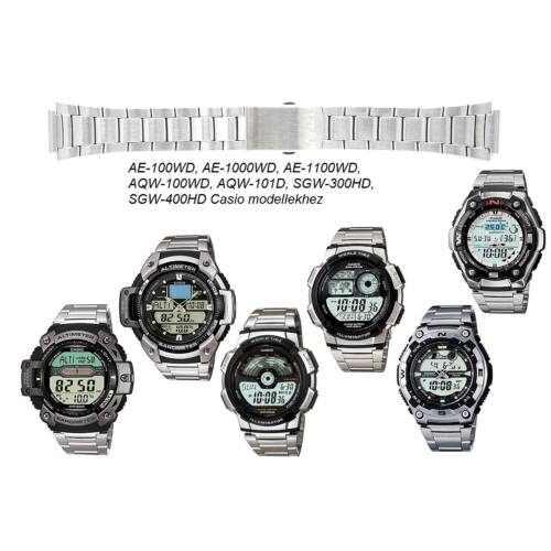 AQW-101D AE-100WD AE-1000WD AE-1100WD SGW-300HD SGW-400HD Casio fémszíj